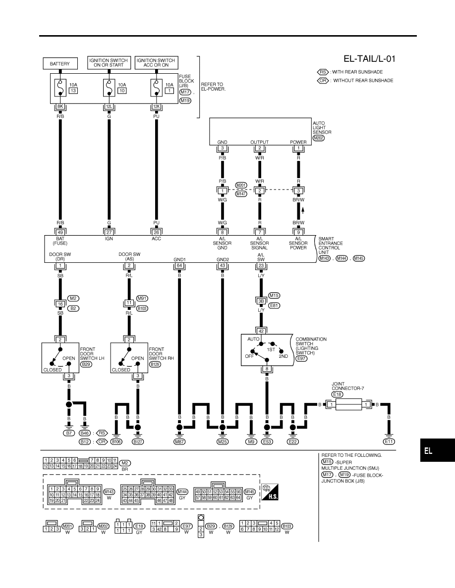 Infiniti I30 A33 Manual Part 354 Wiring Diagrams For 2001