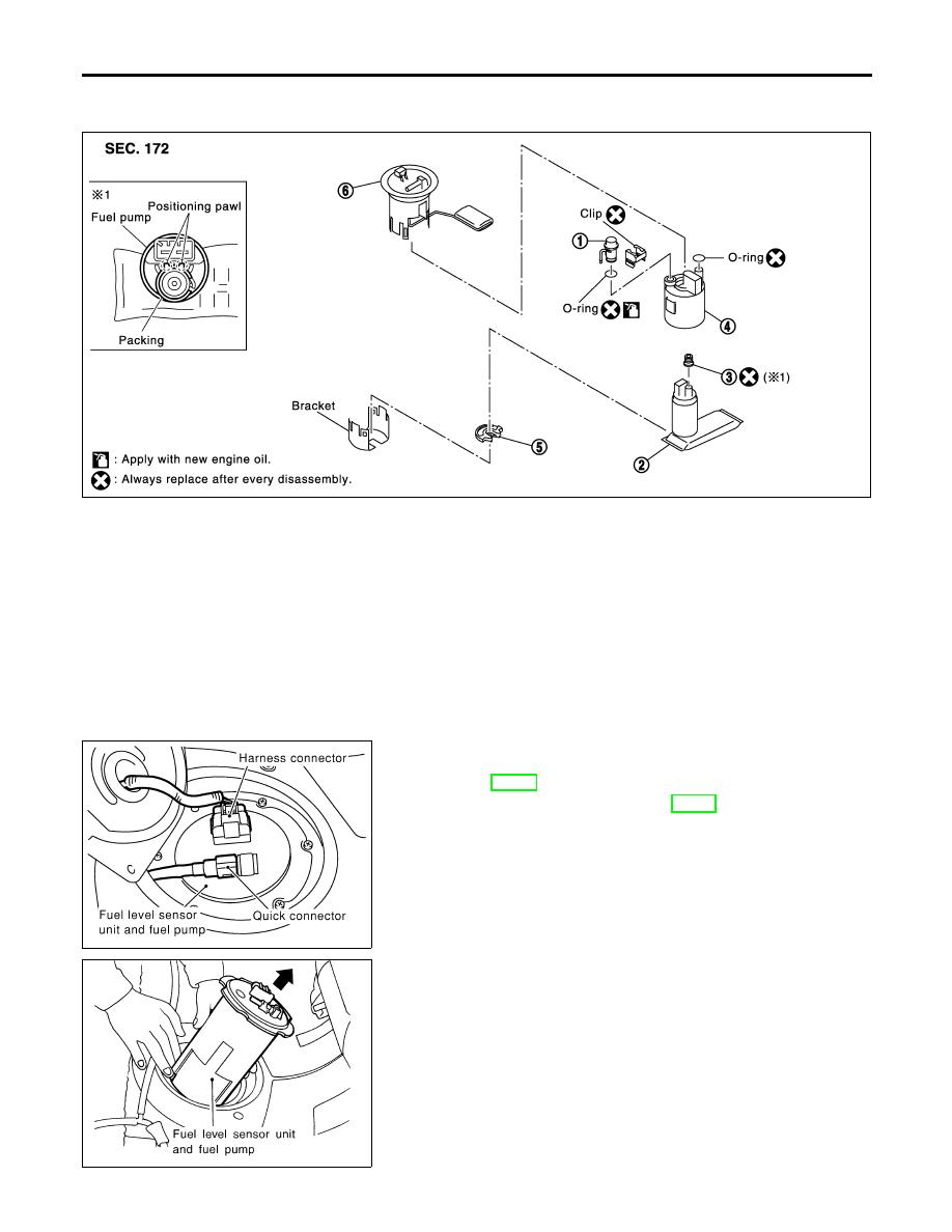 Infiniti I35 A33 Manual Part 503 Fuel Pump Diagram Level Sensor Unit And