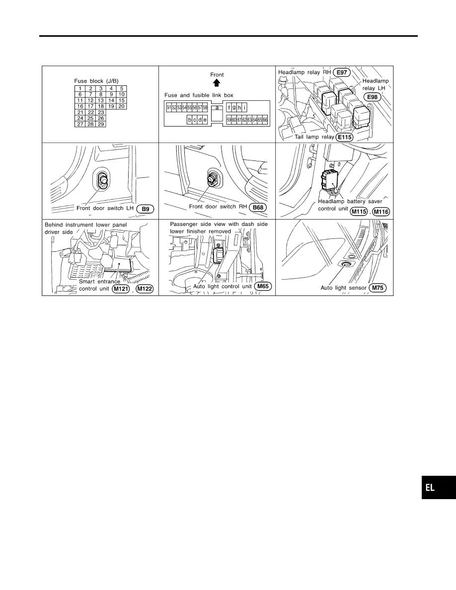 Infiniti QX4 (R50). Manual - part 303 on infiniti qx4 fuse box diagram, infiniti qx4 fuse map, infiniti q45 fuse box location, infiniti g37 fuse box location, infiniti fx35 fuse box location, infiniti qx56 fuse box location, infiniti qx4 starter location,